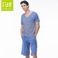 New 2014 Men's Pajamas Best COTTON Mens Tops and Shorts Pijama Summer Men's Nightwear Thin Sleepwear Clothes for Men