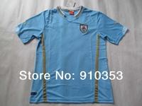 wholesales 2014 World Cup Brazil  Uruguay Cavani #9  soccer jerseys Suarez #7 TOP quality soccer uniforms kits Free Shipping !