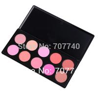 Dropshipping  1 set 2014 new fashion professional 10 Colors blush makeup palette,  Blusher Powder, blusher palette
