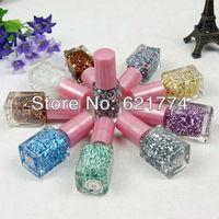 2014 New Hot Sales 24pcs/lot DIY Snow Shape Paillette Glitter Nail Art Makeup Nail Polish Random Color