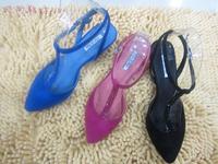 Spring sandals elegant small pointed toe rhinestone velvet women's ol shoes 7011