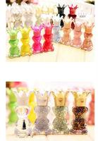 2014 New Hot Sales 12pcs/lot DIY Cute Crown Bear Glitter Powder Candy Color Makeup Nail Polish Nail Art Oil