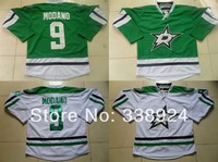 2014 New Dallas Stars #9 Mike Modano Men's Ice Hockey Jersey,Embroidery and Sewing Logos,Size M--3XL,Accept Mix Order