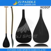 single bent wood shaft carbon fiber outrigger canoe paddle