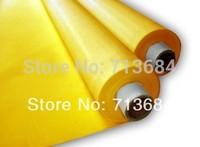 free shipping  6 meters DPP 250 mesh count(100T) yellow fabric , screen printing material,screen frame screen mesh