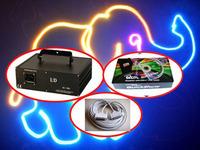 2000mW 2W FULL COLOR RGB ILDA DMX DJ Stage Laser Light Disco 20KPPS high speed Scanner+Quickshow software+10m ILDA cable