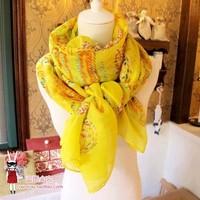 Scarf print long scarf beach silk scarf
