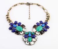 Fashion fashion accessories short design flower diamond gem women's necklace