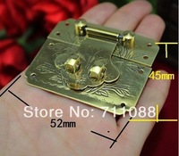 Antique Packing box accessories hardware hinge  ancient wooden box buckle Wooden wine box  buckle copper box lock 52 * 45MM