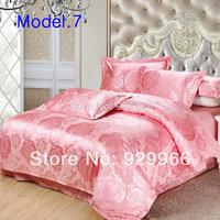 Pink Girls Princess Cotton Bedding Luxury Duvet Cover Set Jacquard Home Textile 4pcs Bedding Set Full Queen King Size Bed Sets