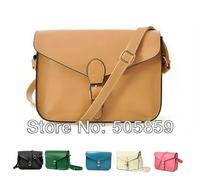 Free Shipping,Vintage satchel women cross body leather handbag lady messenger Purse shoulder bag candy color