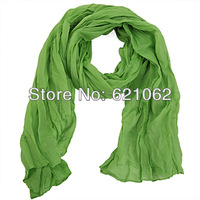 2014 new fashion solid color shawl fluid pleated female scarf women cotton Drape Fashion patchwork shawls scarves