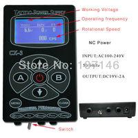 Digital Tattoo Power Supply LCD Power Set  CX-3 For Tattoo Machine Gun Kits Latest Design