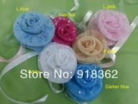 New Original Design!Free Shipping(100pc/Lot)European Style,Wedding Bride maid Wrist Flower,Rose Shape,Mesh Fabric w/Shining Deco