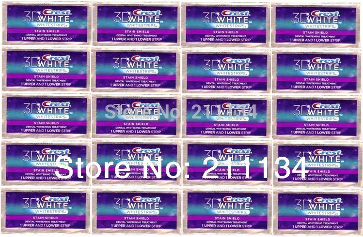 40 Crest Whitestrips 3D Stain Shield White Strips(China (Mainland))
