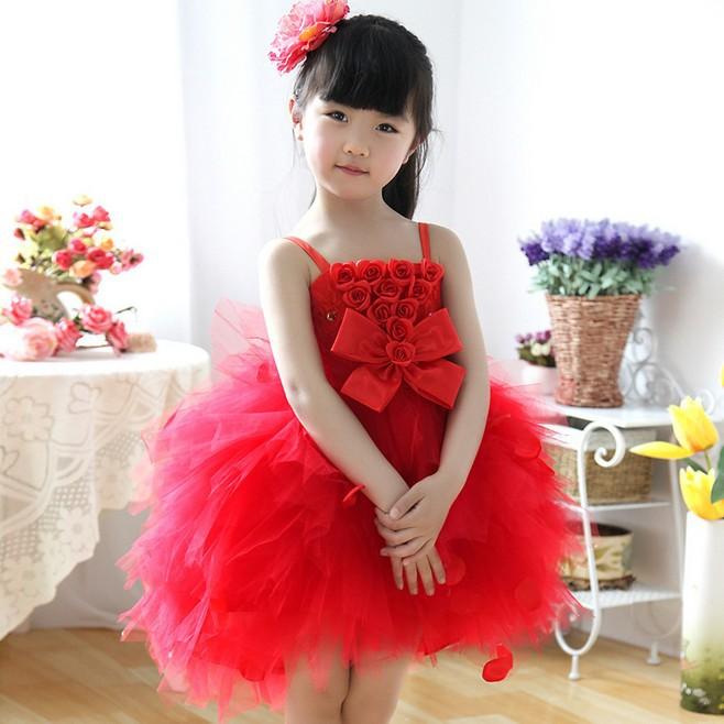 Cute Baby Girl in Yellow Dress Baby Girls Princess Dress
