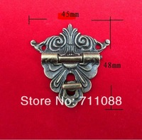 Antique Packing box accessories exquisite hardware hinge wooden box gift box buckle Wooden wine box lock  buckle45*48mm