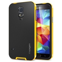 Spigen SGP Hybrid Bumblebee Case For Samsung Galaxy S5 i9600 SV G900S i9500X Cover Phone Shell