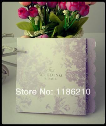 2014 novo cartão invitatin & venda quente cartão de casamento e bebê chuveiro tecido branco cartões de convite de casamento(China (Mainland))