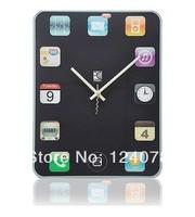 Creative iPad Screen Wall Clock Mute Scanning Wall Clock Sticker Modern Design 30pcs/lot