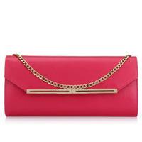2014 New Fashion Style Red Color Long Design Brand Clutch Handbag For Women Evening Clutch Bags Party Bag Chian Shoulder Bag