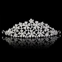 New Design Floral Crystal Bridal Tiara Crown Hairwear Wedding Woman Lover Hair Accessary