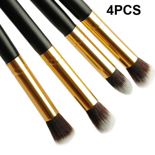 1Set/4pcs Styling Tools Super soft High Quality makeup brushes set kabuki blush blending eye shadow brush cosmetic(China (Mainland))