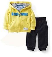 BA024 Free shipping Carter's baby clothing jacket + pant boys alphabet 2pcs sets kids spring autumn suits wholesale 5sets/lot