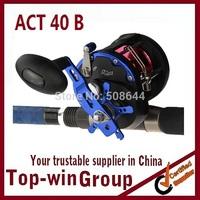 High quality ACT40B Boat Trolling fishing reels 6.2:1 3BB+1RB Ball Bearings fishing reel Free shipping TOPWIN