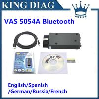 2014 Quality A+ multi-language vas 5054a scanner V19 VAS5054 with Bluetooth vas5054a for VW skoda seat Free Shipping