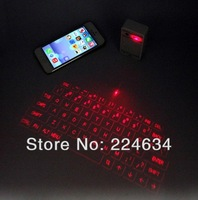 Free shipping! 1PCS x 2014 Latest Hi-tech Laser Keyboard for Smartphone, Tablet PC, Computer via Bluetooth or USB Connection