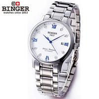 Designer brand watch quality automatic mechanical watch blue 3 hands men white case 2014 new trendy luxury wristwatches man