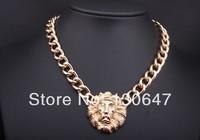 Latest design fashion statement necklace with big gem high quality pendant vintage collar necklace 2014 women