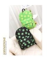 Korea Backpack Harajuku Style Hemp leaf canvas bag female student Bag School Bag Bookbag