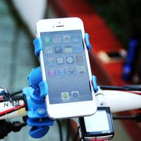 MTB Bike phone holder 360 rotating ride mountain bike mobile GPS clip Bicycle handlebar fixator bracket Bicycle accessories