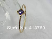 18k Rose Gold Over Solid 316L Stainless Steel Bangle Bracelet Free Shipping Charm Bracelets For Women TGB013