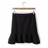 Spring 2014 new European and American ladies flounced skirt waist bust skirt package hip nc68-5-2302