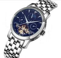 Guaranteed! GUANQIN Tourbillon luxury men mechanical watches sapphire Waterproof 100m fashion watch hours Wristwatches (GQ10028)