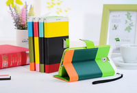 100pcs/lot Colorful Luxury PU Leather Flip wallet case for Samsung Galaxy Note3 3 N9000 Card holder design Fedex DHL shipping