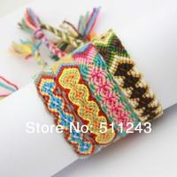 Hippy boho surf Embroidery cotton string handmade FRIENDSHIP BRACELET
