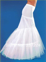 New White 2-Hoop Mermaid Wedding Dress Bridal Petticoat Crinoline
