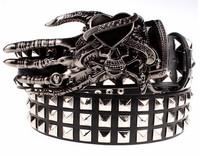Fashion Cool Skull Belt Love Punk Ghost claw kiss Heavy Metal Kito Rivet Street hip hop trend Gift belt for Men free shipping