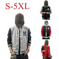 New 2014 Sports Jacket Baseball Hoodies Men Casual Cardigan Sweater Mens Coat Jaqueta plus size Casaco Masculino  XXXL 4XL 5XL