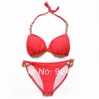 New 2014 Beauty Sexy Women Monokini high waisted bathing suits swimsuit sexy retro swimsuit solid bikini set