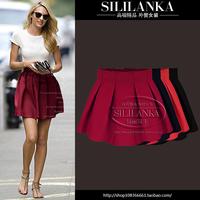 2014 spring fashion women's basic short skirt high waist elastic puff skirt bust skirt