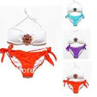 New 2014 Beauty Colorful Women Monokini high waisted bathing suits swimsuit sexy retro swimsuit bikini set