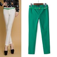 The new candy-colored pants casual pants Slim stretch nine feet pants casual pants az-2497