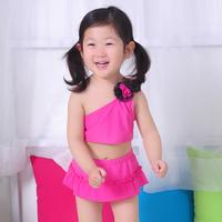 Free shipping fashion 2014 Brand New child skirt kids swimwear spring beach suit children swimsuit for girls