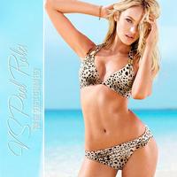 2014 New arrival fashion ultra soft sexy leopard skin push up bikini set swimwear swimsuit women bathing suit beach