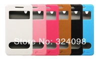2014 Hot Selling High Quality Colorful Leather View Window Design Case for Lenovo S960 P780 Case Cover+Free Shipping